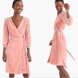 J. Crew Drapey Velvet Wrap dress